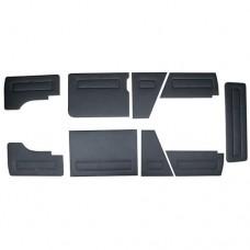 Boczki czarne zestaw 9 elementów T25 08/84-08/92