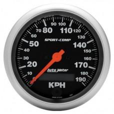 Prędkościomierz SPORT 3-3/8&#39 190 KmH czarny