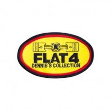 Naszywka Flat4 ''FLAT-4''badge