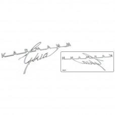 'Karmann Ghia' Emblemat na klapę 08/62-